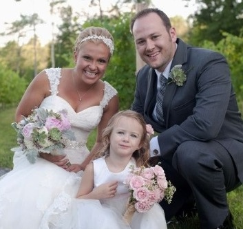 Bride, Husband and Flower Girl